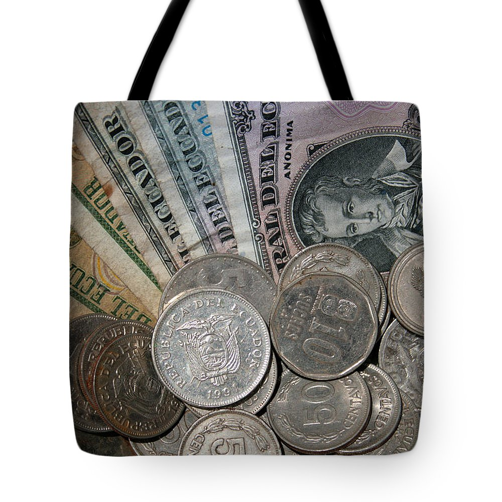 Currency Tote Bag featuring the photograph Old Ecuadorian Currency by Robert Hamm