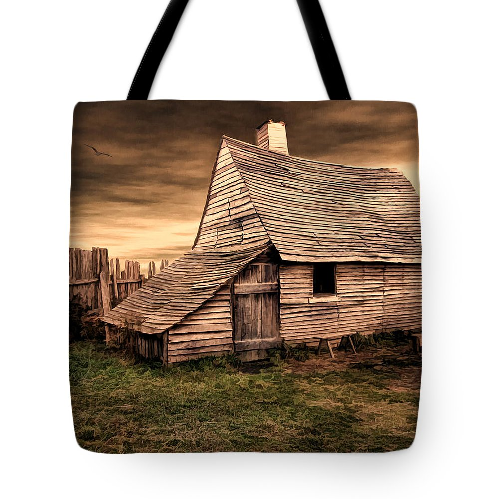 Barn Tote Bag featuring the photograph Old English Barn by Lourry Legarde