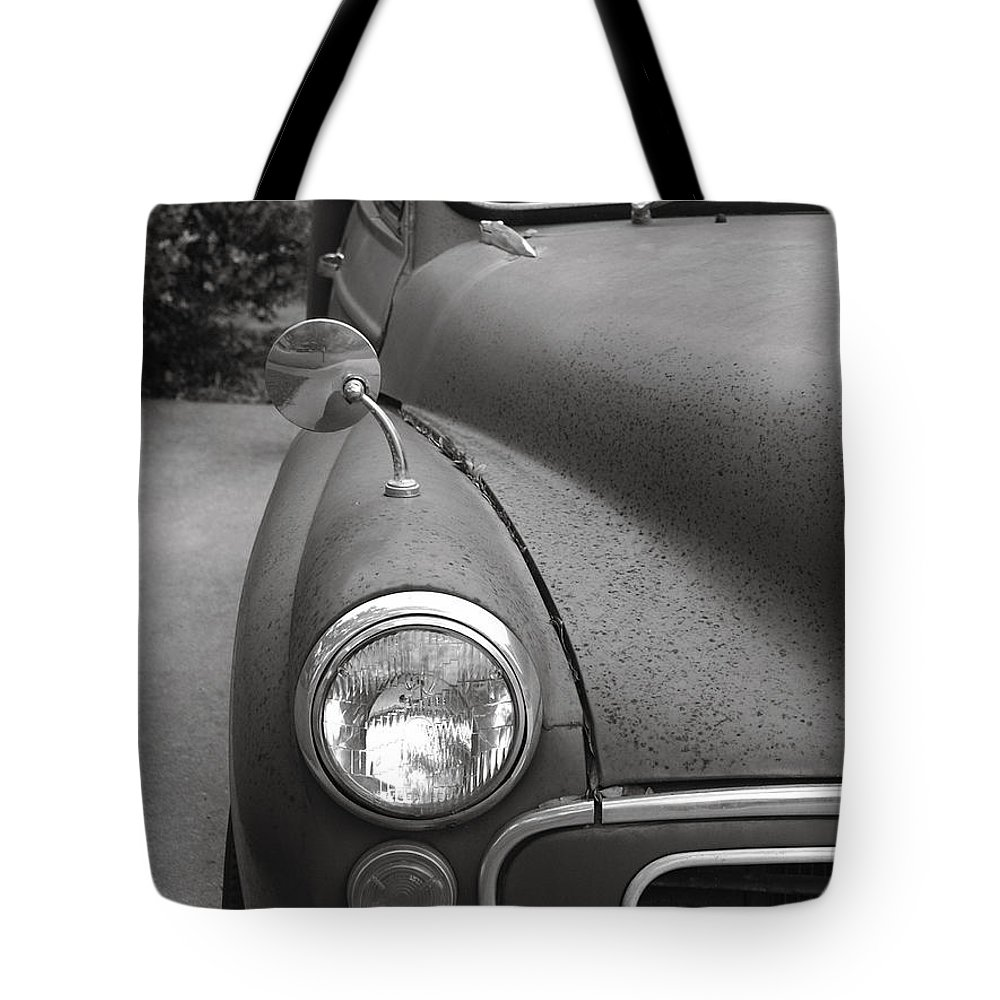 Old Tote Bag featuring the photograph Old English Car by Marilyn Hunt