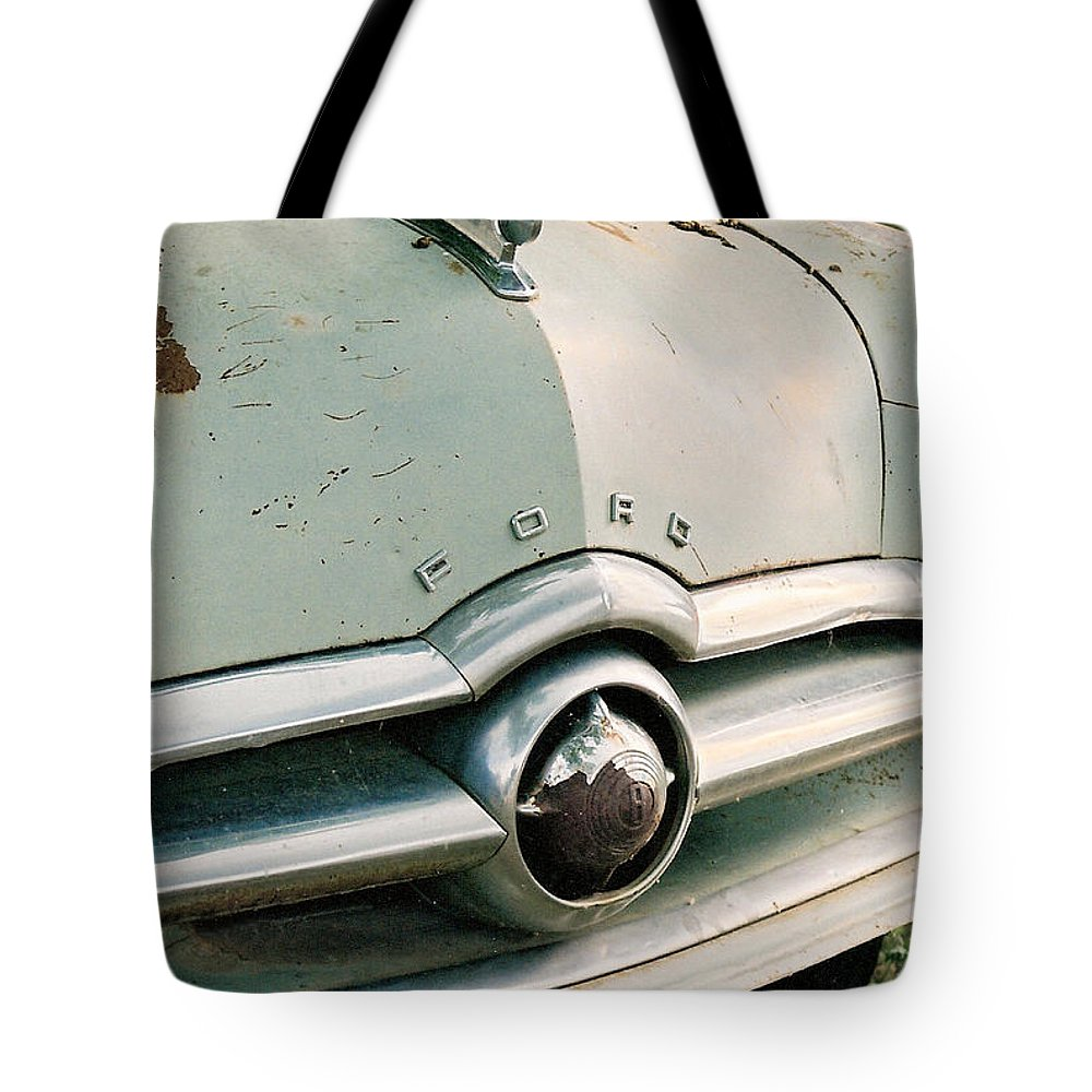 Car Tote Bag featuring the photograph Old Ford by Lauri Novak
