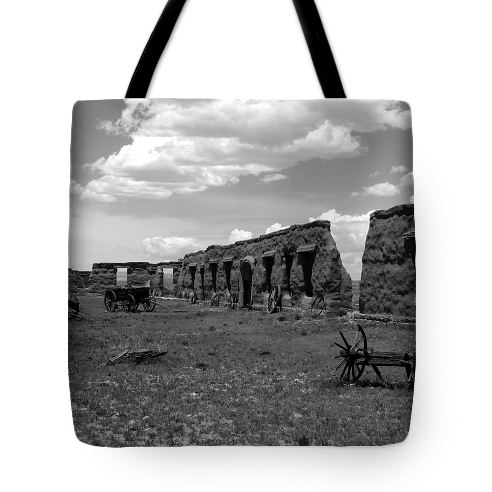 Fort Union New Mexico Tote Bag featuring the photograph Old Fort Union by David Lee Thompson