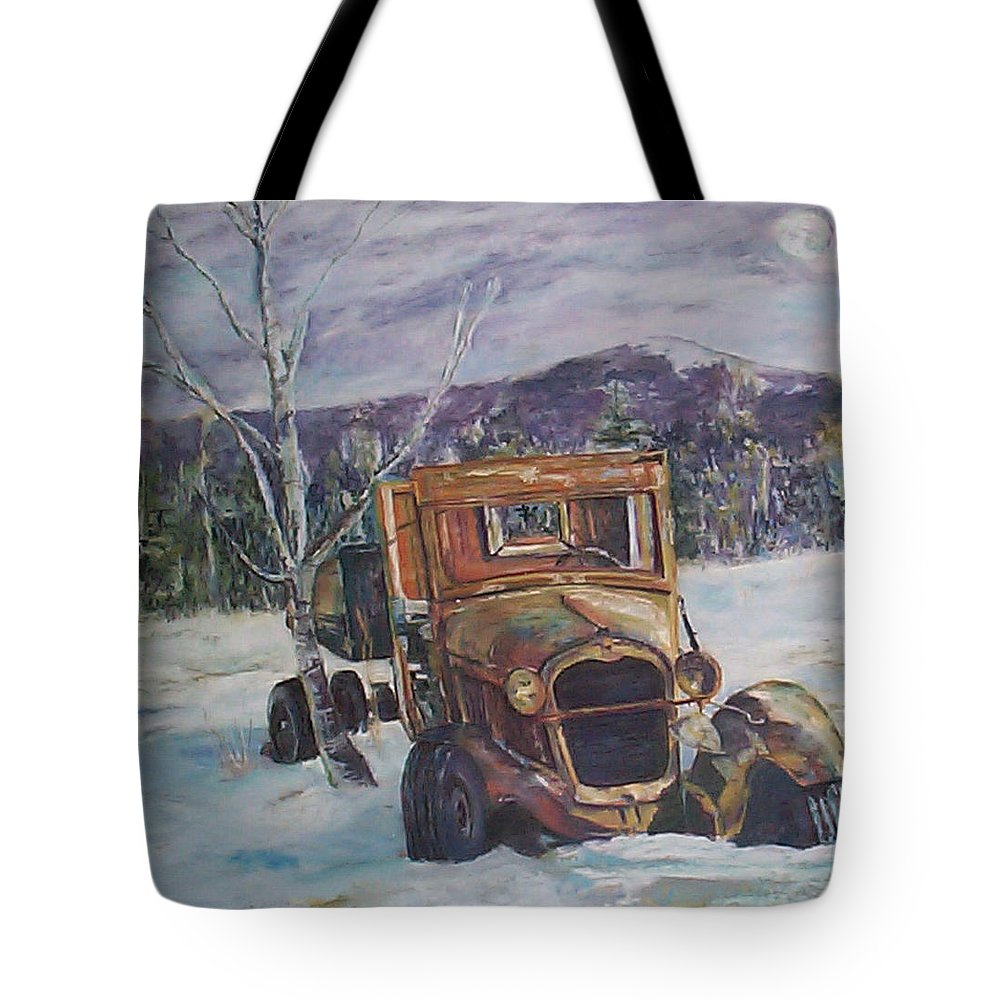 Model A Tote Bag featuring the pastel Old Friend II by Alicia Drakiotes