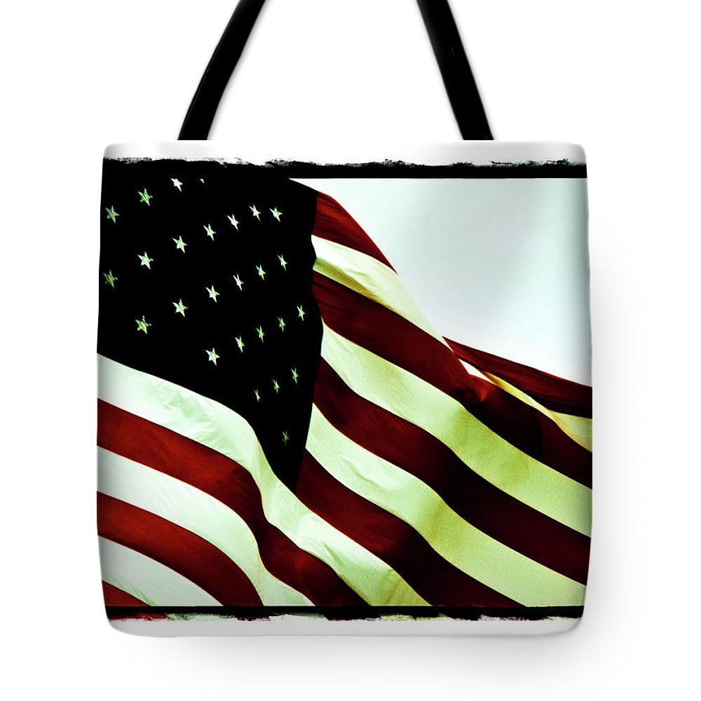Digital Border Tote Bag featuring the photograph Old Glory by Scott Pellegrin