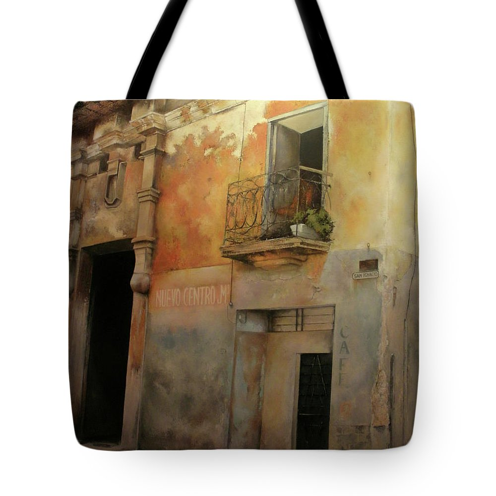 Havana Cuba Tote Bag featuring the painting Old Havana by Tomas Castano