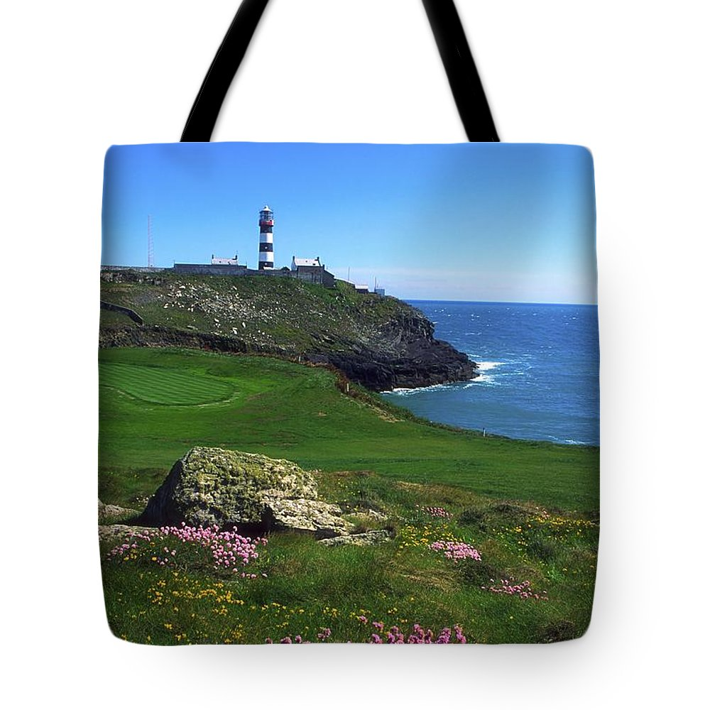 Clear Sky Tote Bag featuring the photograph Old Head Of Kinsale Lighthouse by The Irish Image Collection