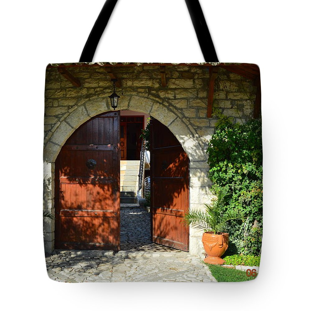 Tote Bag featuring the photograph Old House Door by Nuri Osmani