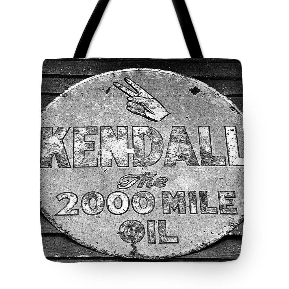 Kendal Motor Oil Sign Tote Bag featuring the photograph Old Kendal Sign by David Lee Thompson