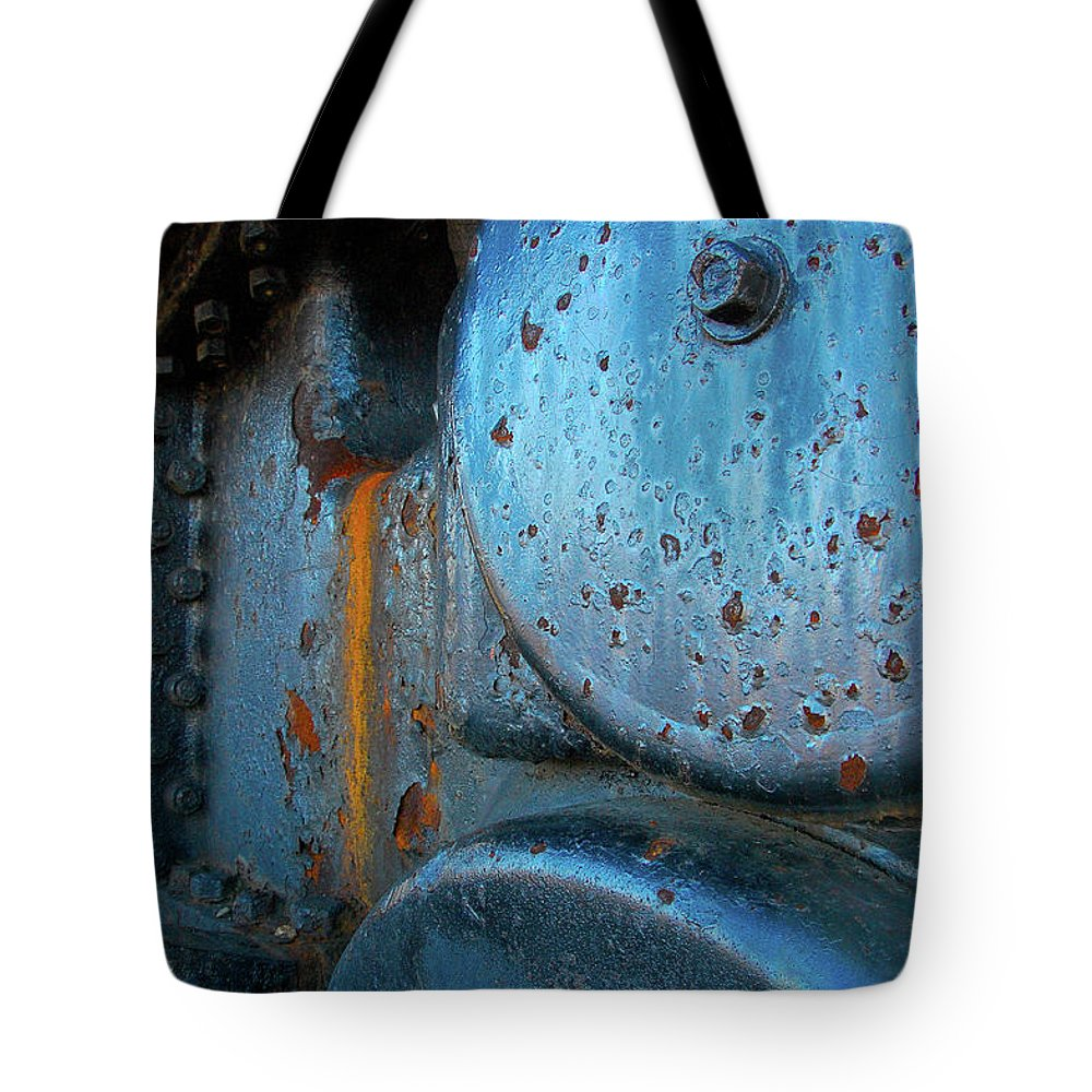 Maine Tote Bag featuring the photograph Old Locomotive by Kevin Couture