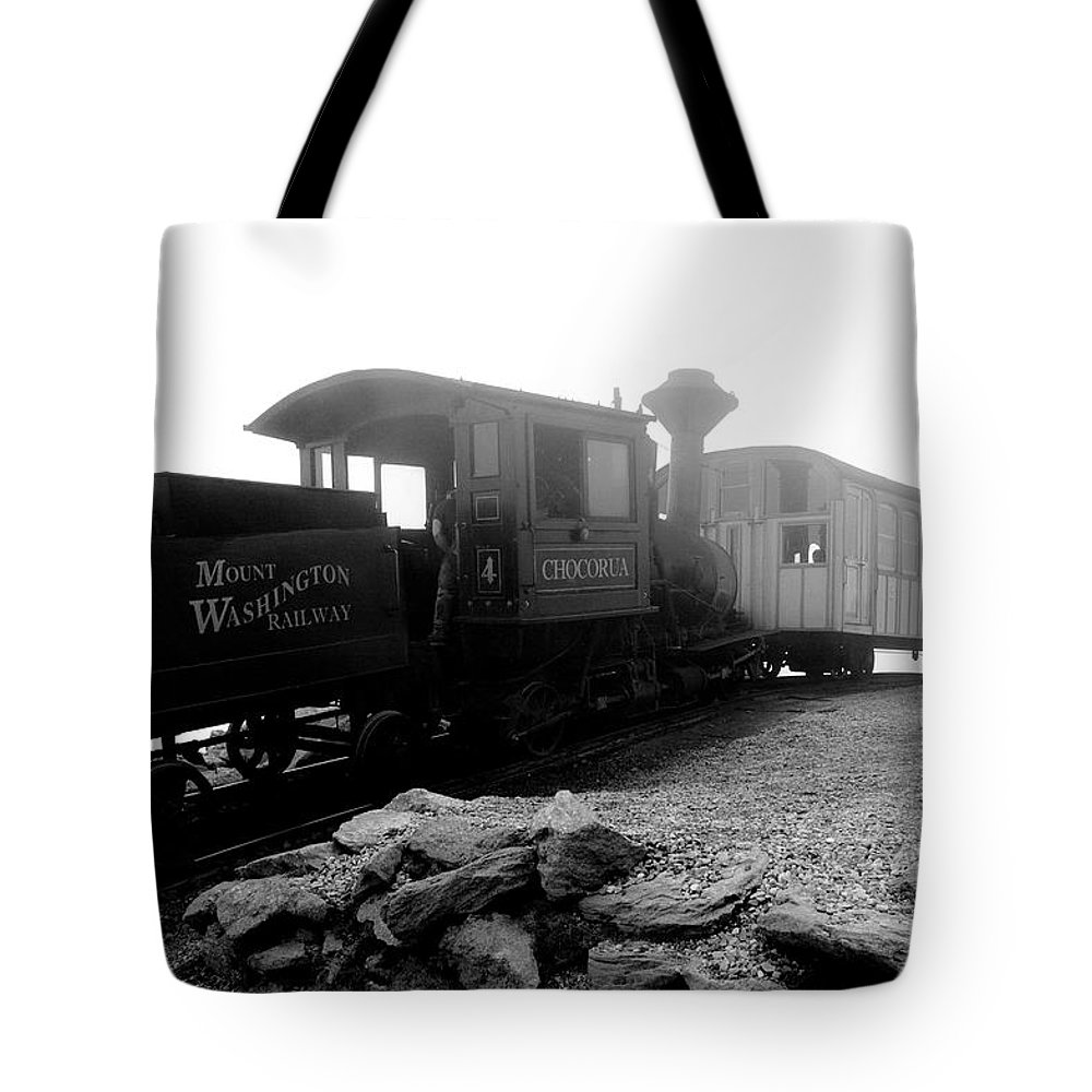 Train Tote Bag featuring the photograph Old Locomotive by Sebastian Musial