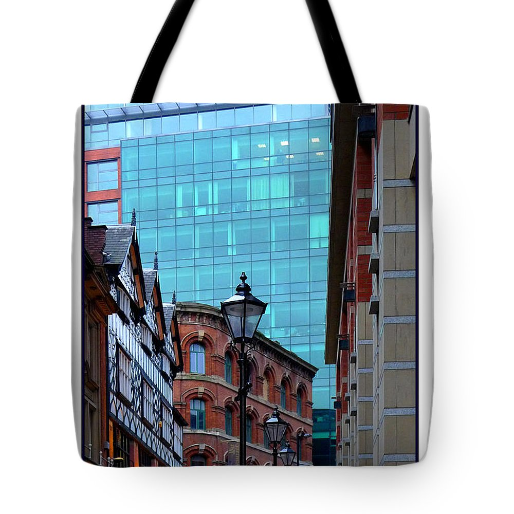 Manchester Tote Bag featuring the photograph Old Meets New by Mal Bray
