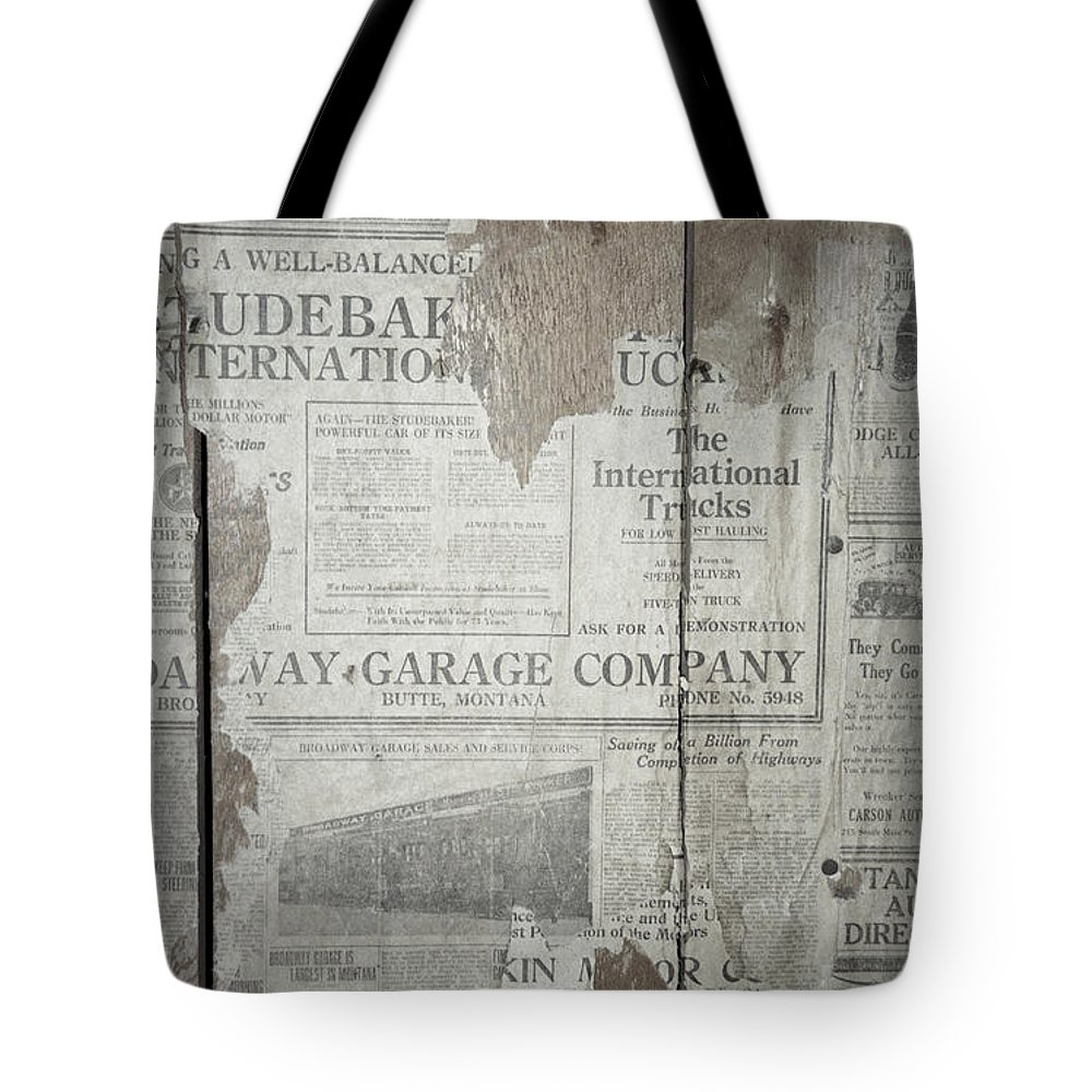 Newspapers Tote Bag featuring the photograph Old News by Richard Rizzo