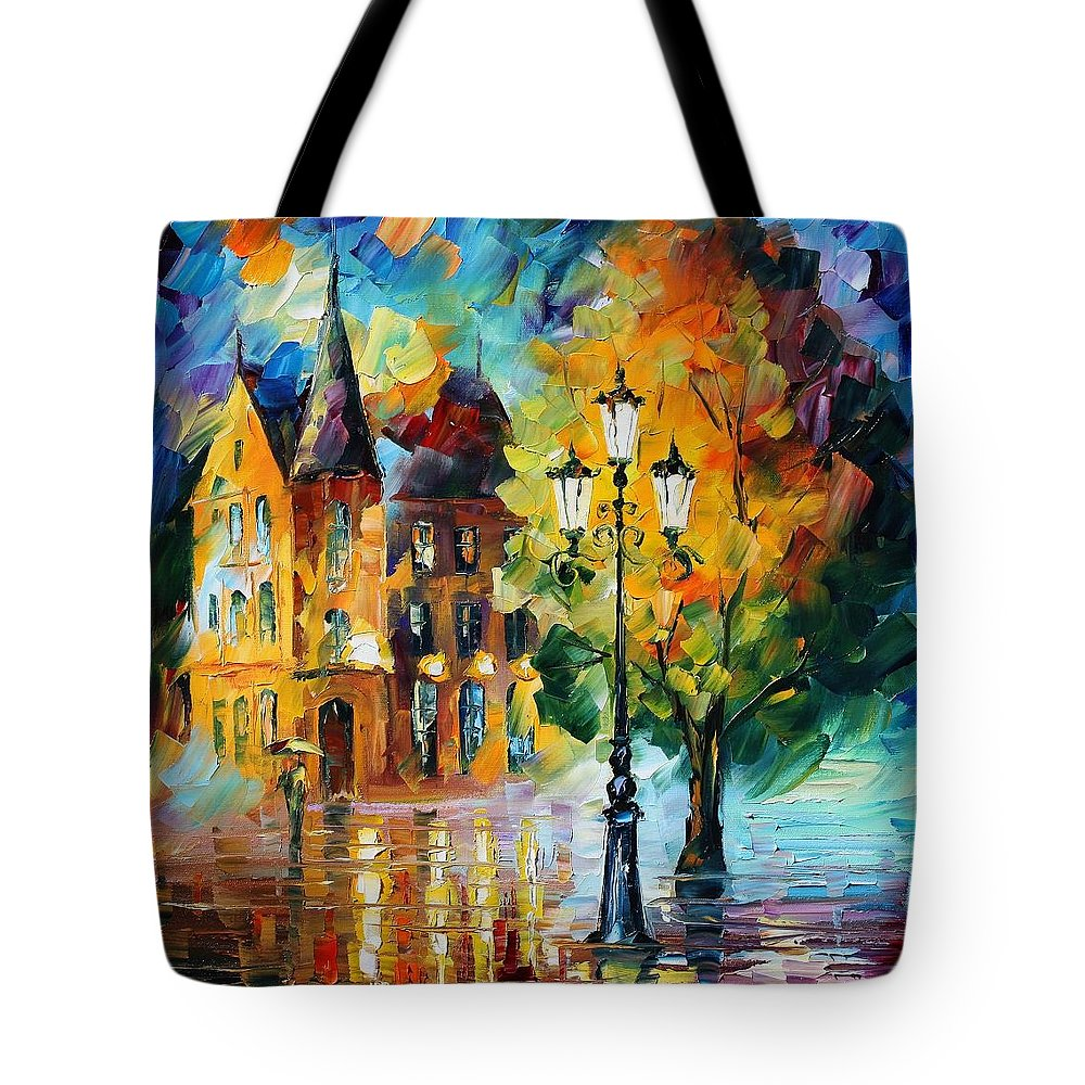 Afremov Tote Bag featuring the painting Old Part Of France by Leonid Afremov