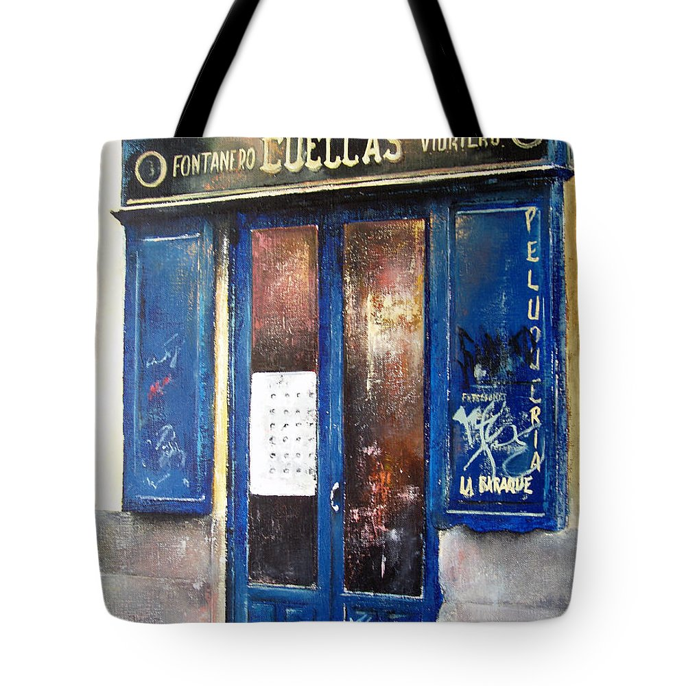 Old Tote Bag featuring the painting Old Plumbing-madrid by Tomas Castano