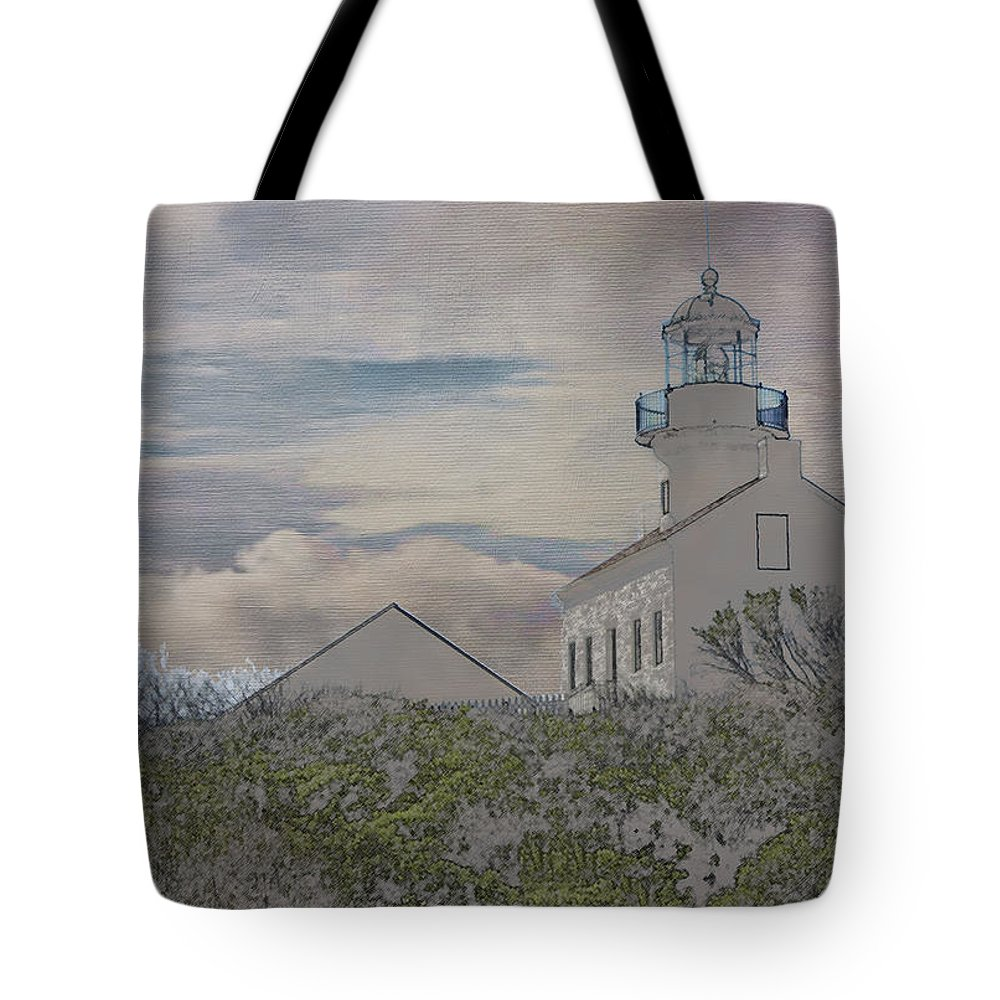 Europe Tote Bag featuring the photograph Old Point Loma Lighthouse by Linda Dunn