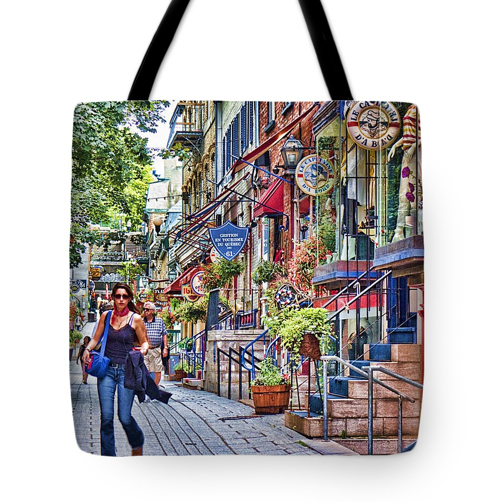 Canada Tote Bag featuring the photograph Old Quebec City by David Smith