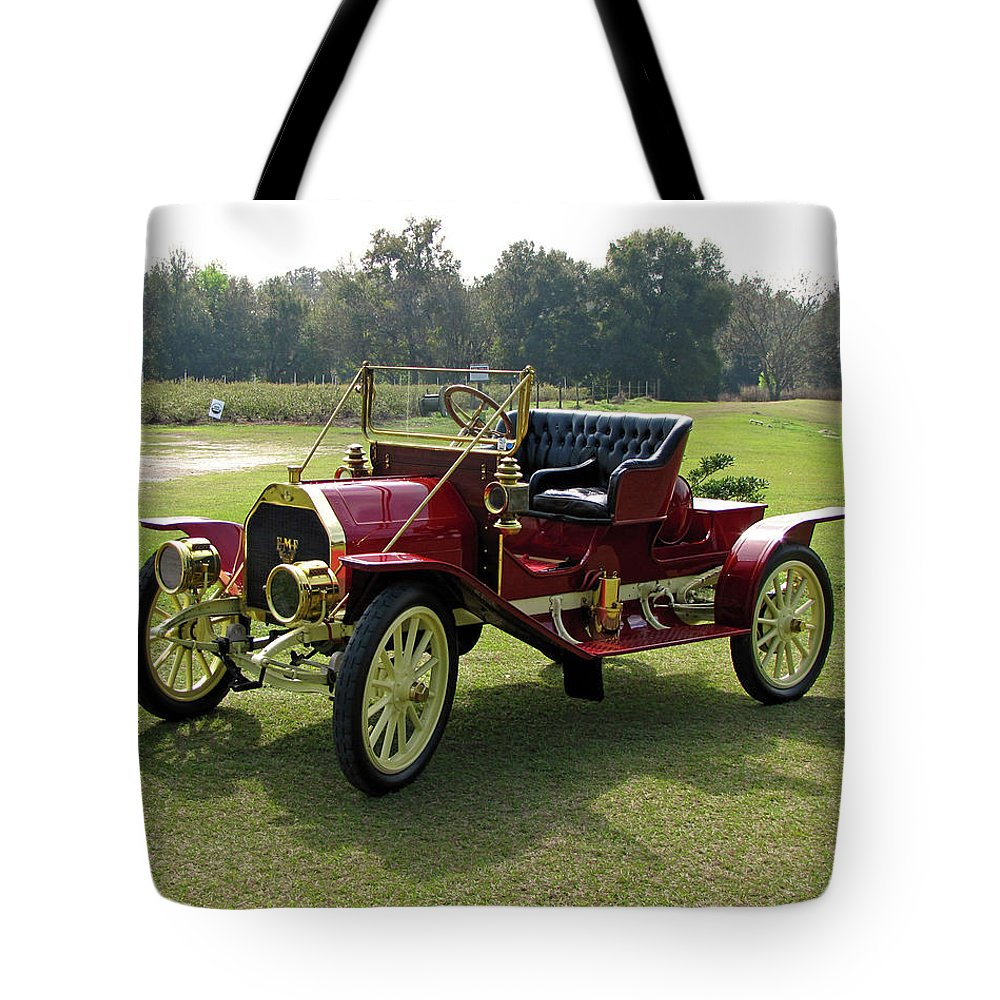 Antique Tote Bag featuring the photograph Old Red by Peg Urban