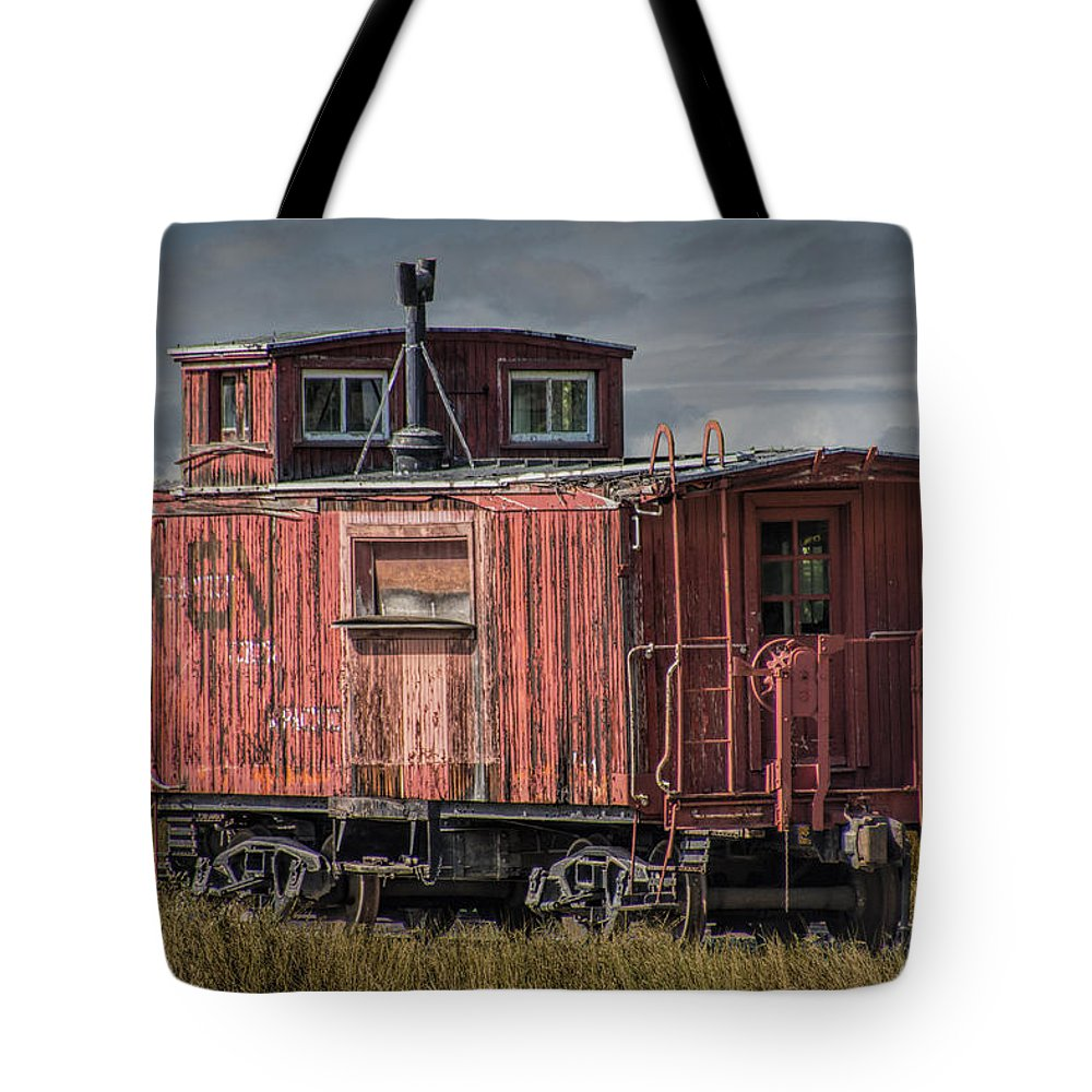 Old Red Train Caboose Tote Bag