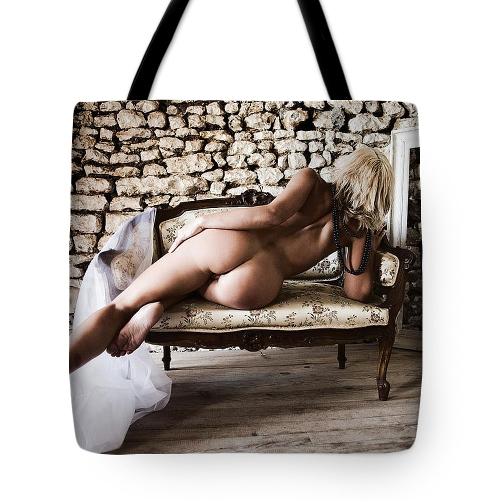 Sensual Tote Bag featuring the photograph Old Room by Olivier De Rycke