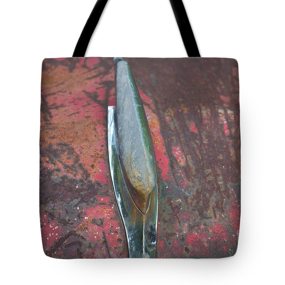 Old Tote Bag featuring the photograph Old Rusty Hood At 9000 Feet Rocky Mountains Co by James BO Insogna