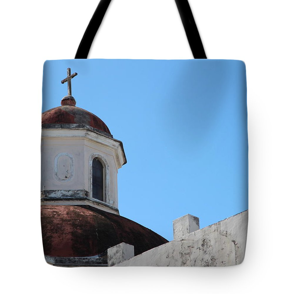 Old San Juan Puerto Rico Tote Bag featuring the photograph Old San Juan Puerto Rico Downtown Church by Robert Smith