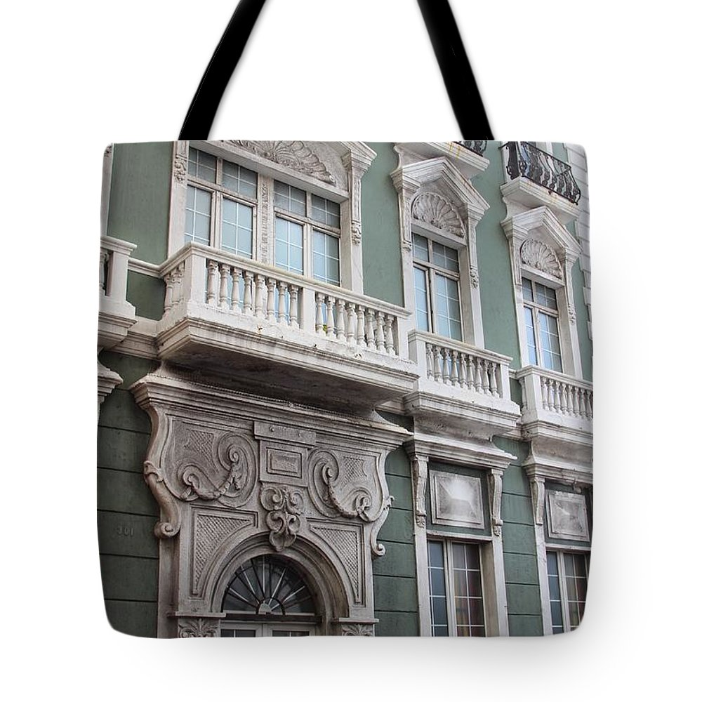 Old San Juan Puerto Rico Downtown Green Tote Bag featuring the photograph Old San Juan Puerto Rico Downtown Green by Robert Smith