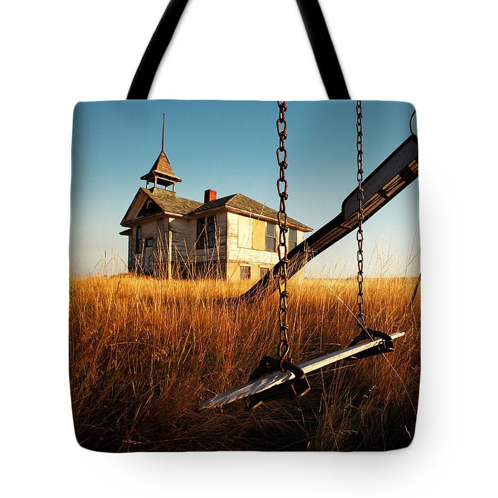Old Tote Bag featuring the photograph Old Savoy Schoolhouse by Todd Klassy
