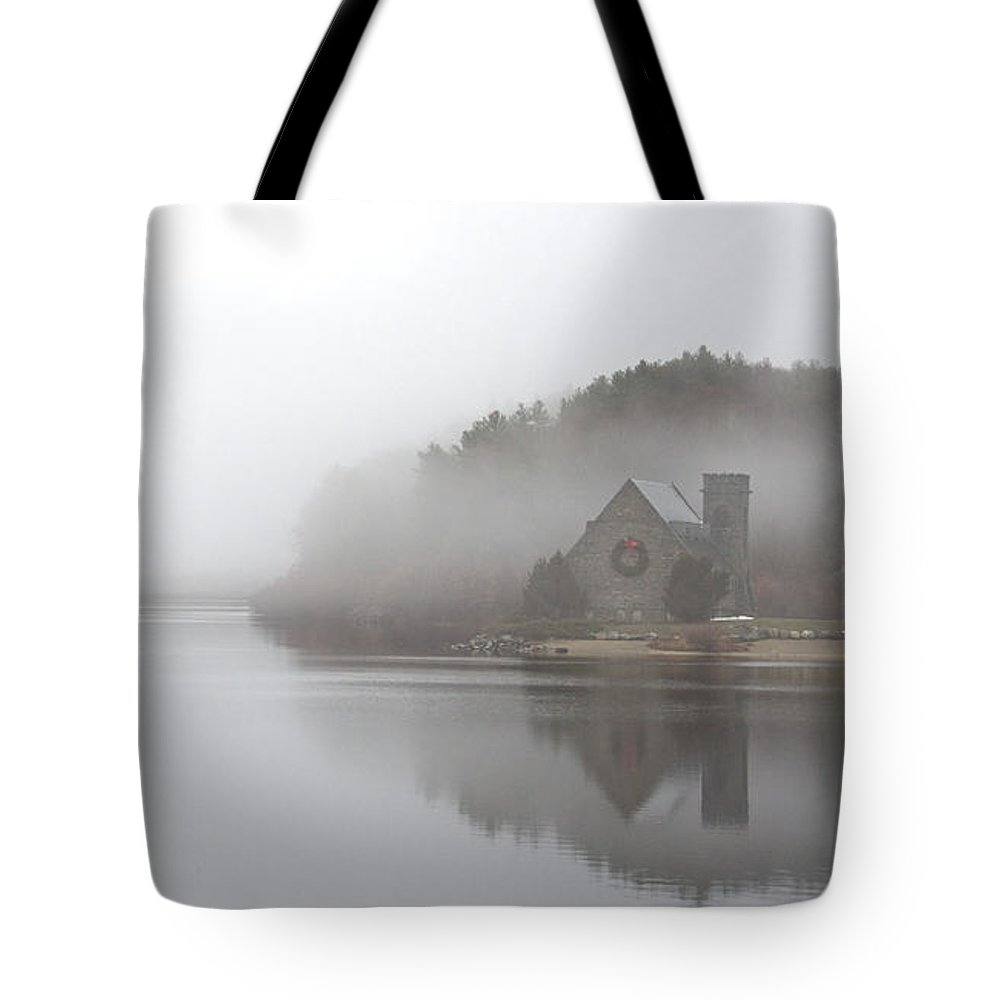 Old Stone Church Tote Bag featuring the photograph Old Stone Church by Cathy Fitzgerald
