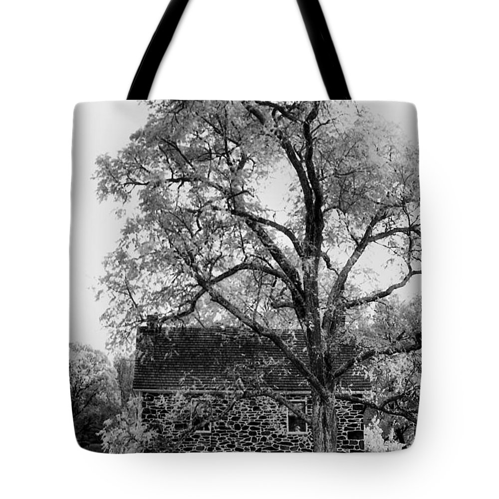 Homes Tote Bag featuring the photograph Old Stone House by Richard Rizzo