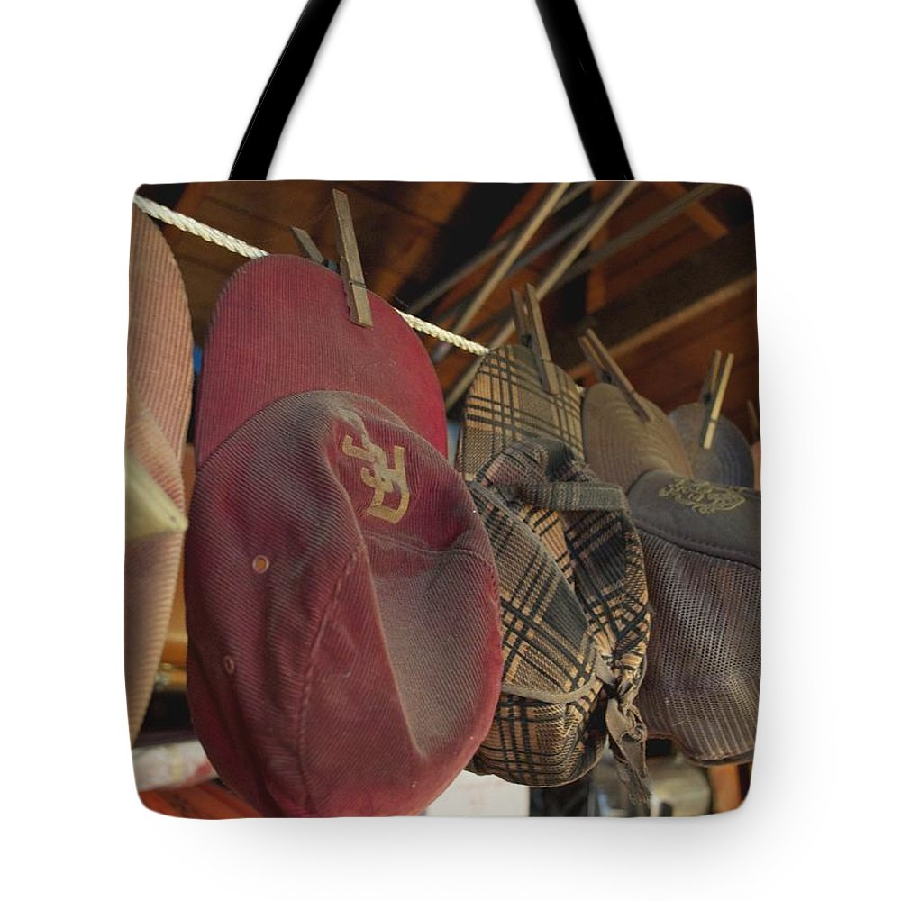 Garage Tote Bag featuring the photograph Old Timer's Garage by Gwyn Newcombe