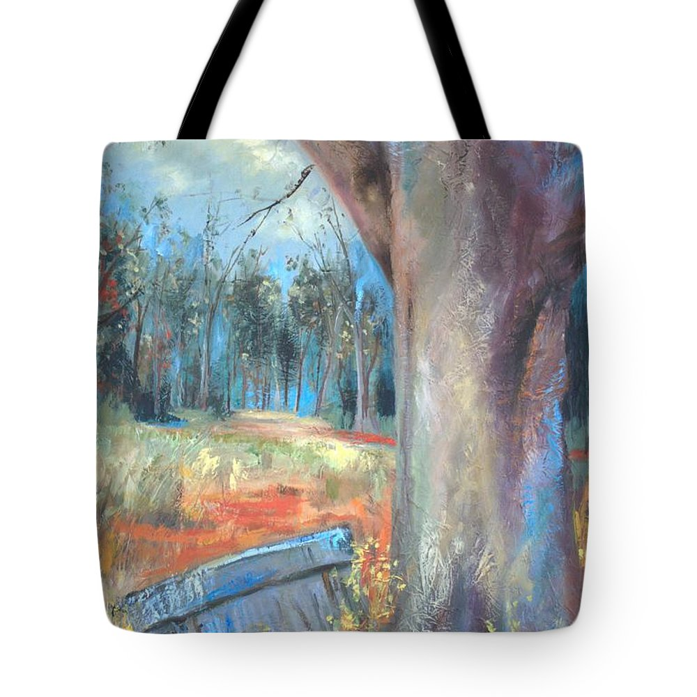 Country Scenes Tote Bag featuring the painting Old Times by Ginger Concepcion