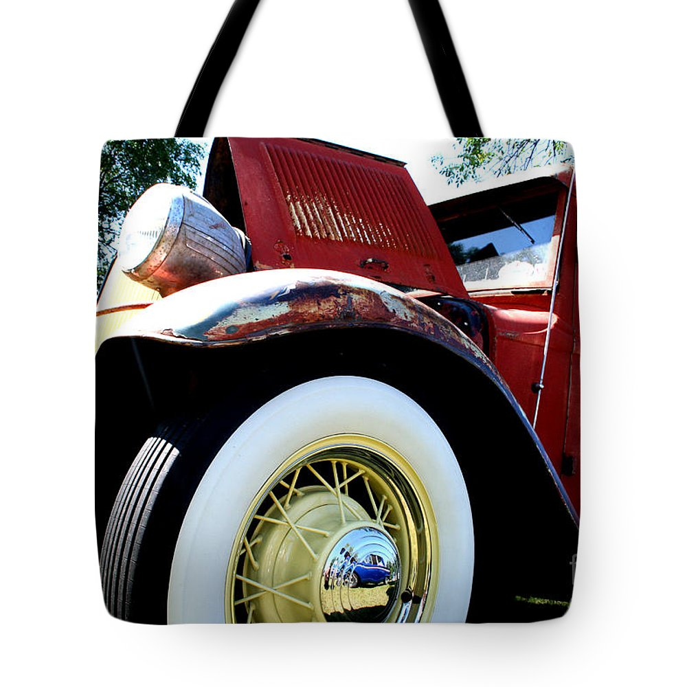 Fish Day Car Show 2010 Tote Bag featuring the photograph Old Truck by Jamie Lynn