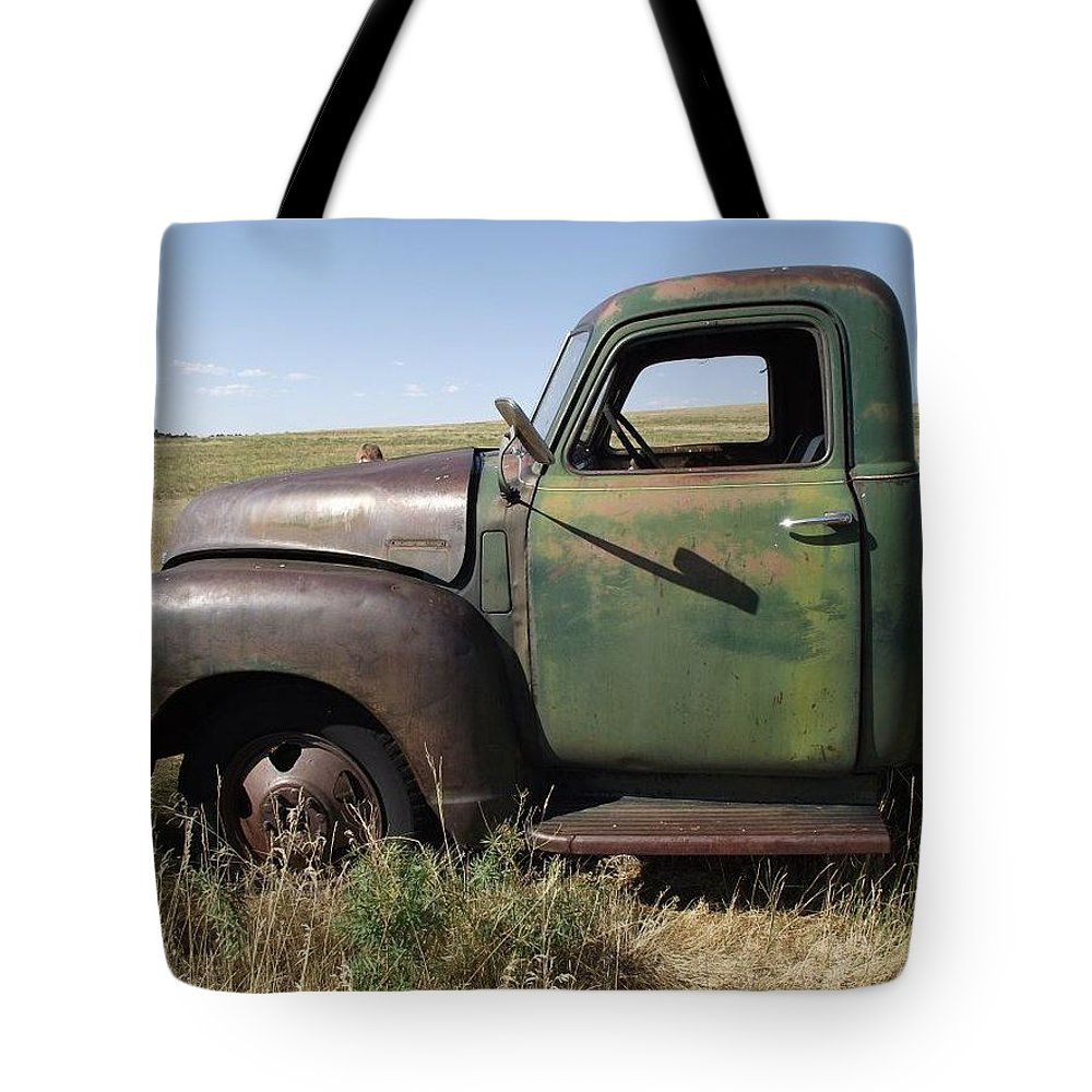 Truck Tote Bag featuring the photograph Old Truck by Pamela Pursel