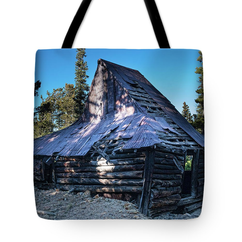 Rustic Tote Bag featuring the photograph Old Witch Hat Gold Mine by James BO Insogna