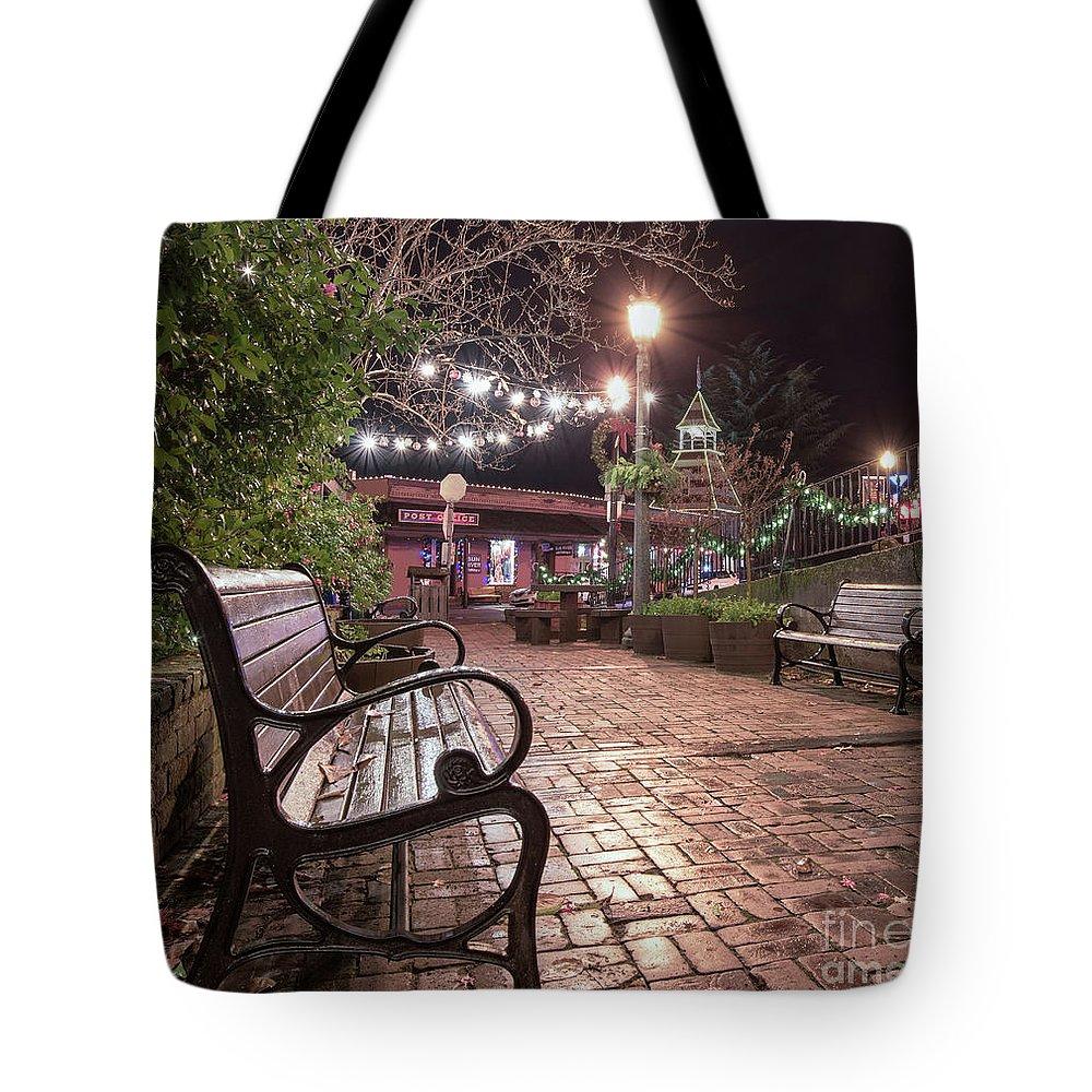 Auburn Tote Bag featuring the photograph Oldtown Auburn Park by Mark Chandler