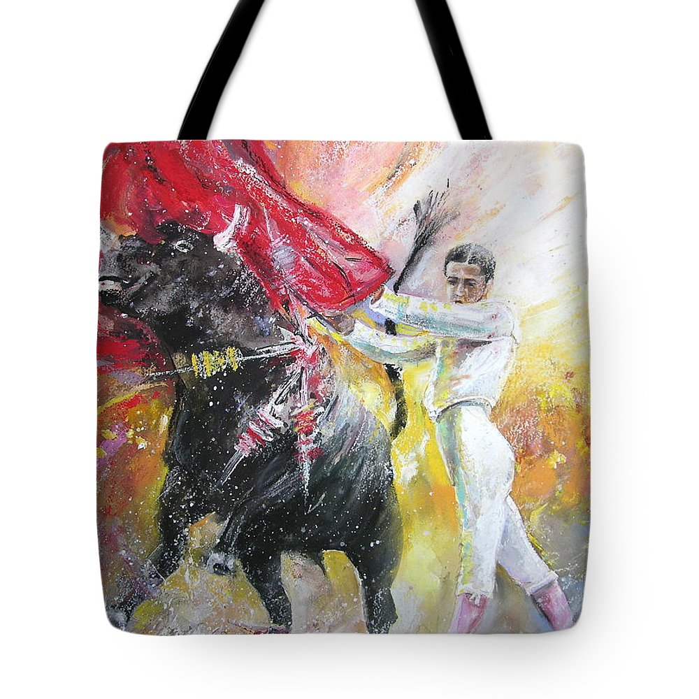 Animals Tote Bag featuring the painting Ole by Miki De Goodaboom