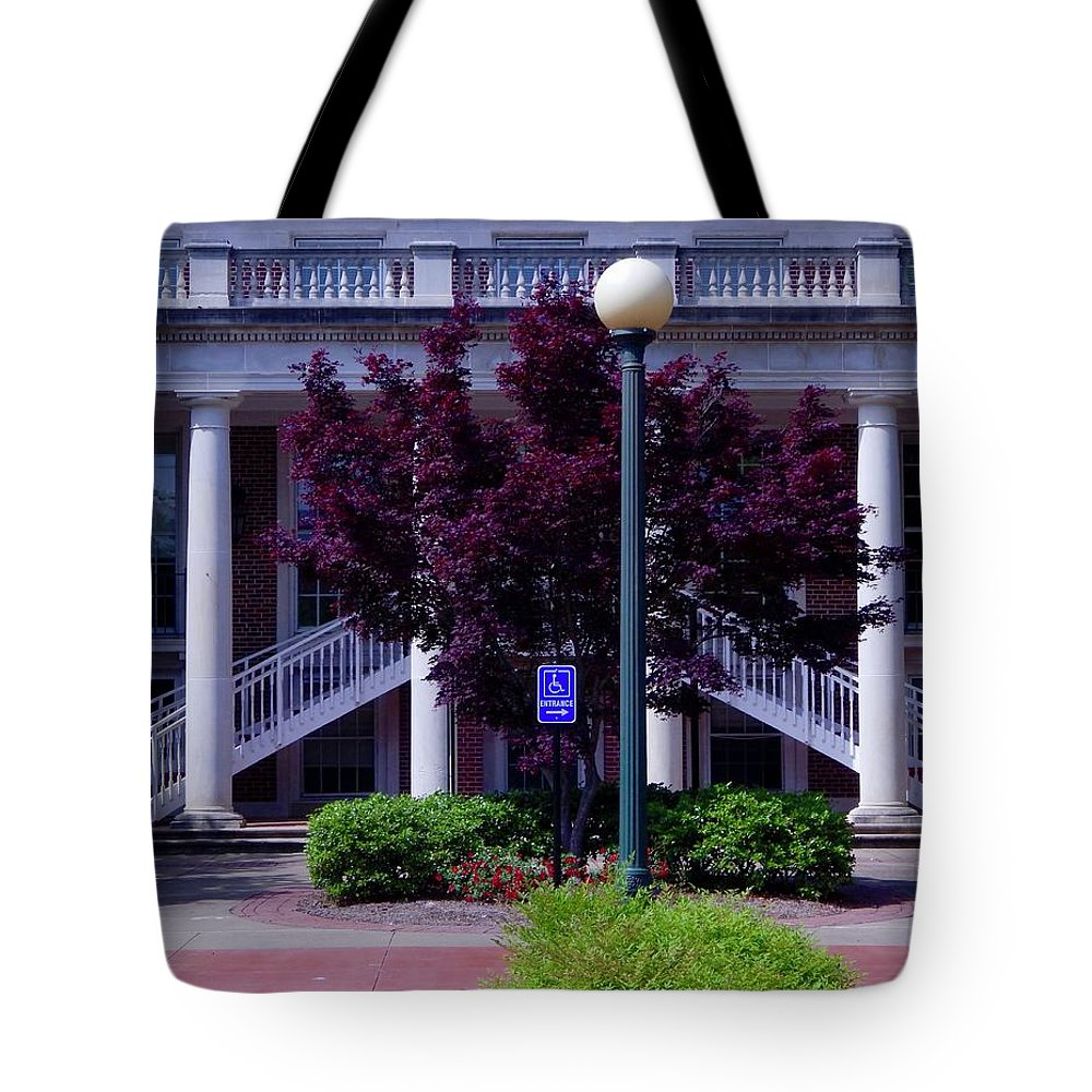 Oxford Tote Bag featuring the photograph Ole Miss Campus by Terry Cobb