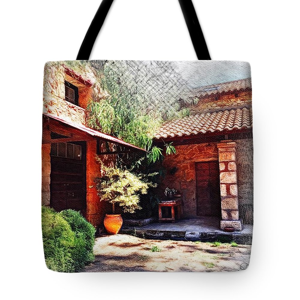 Olympia Tote Bag featuring the digital art Olympian Respite by Looking Glass Images