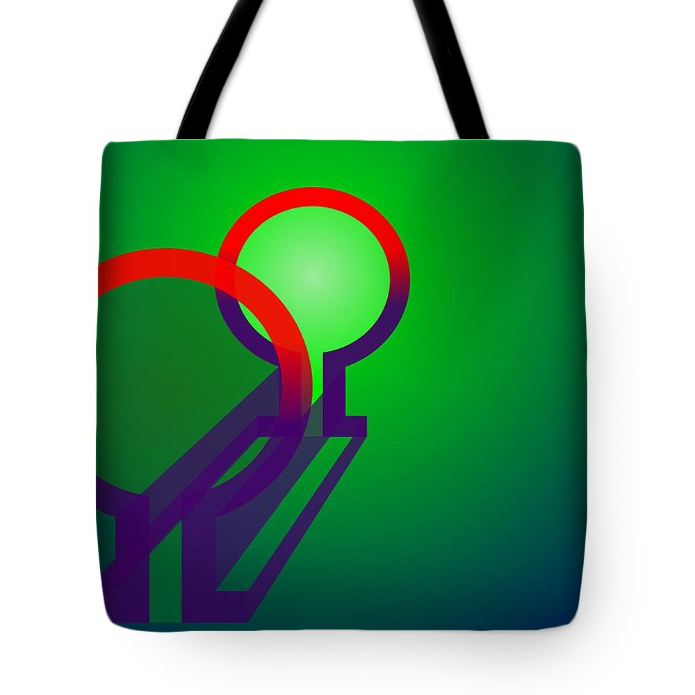 Omega Tote Bag featuring the digital art Omega Xfers by Helmut Rottler
