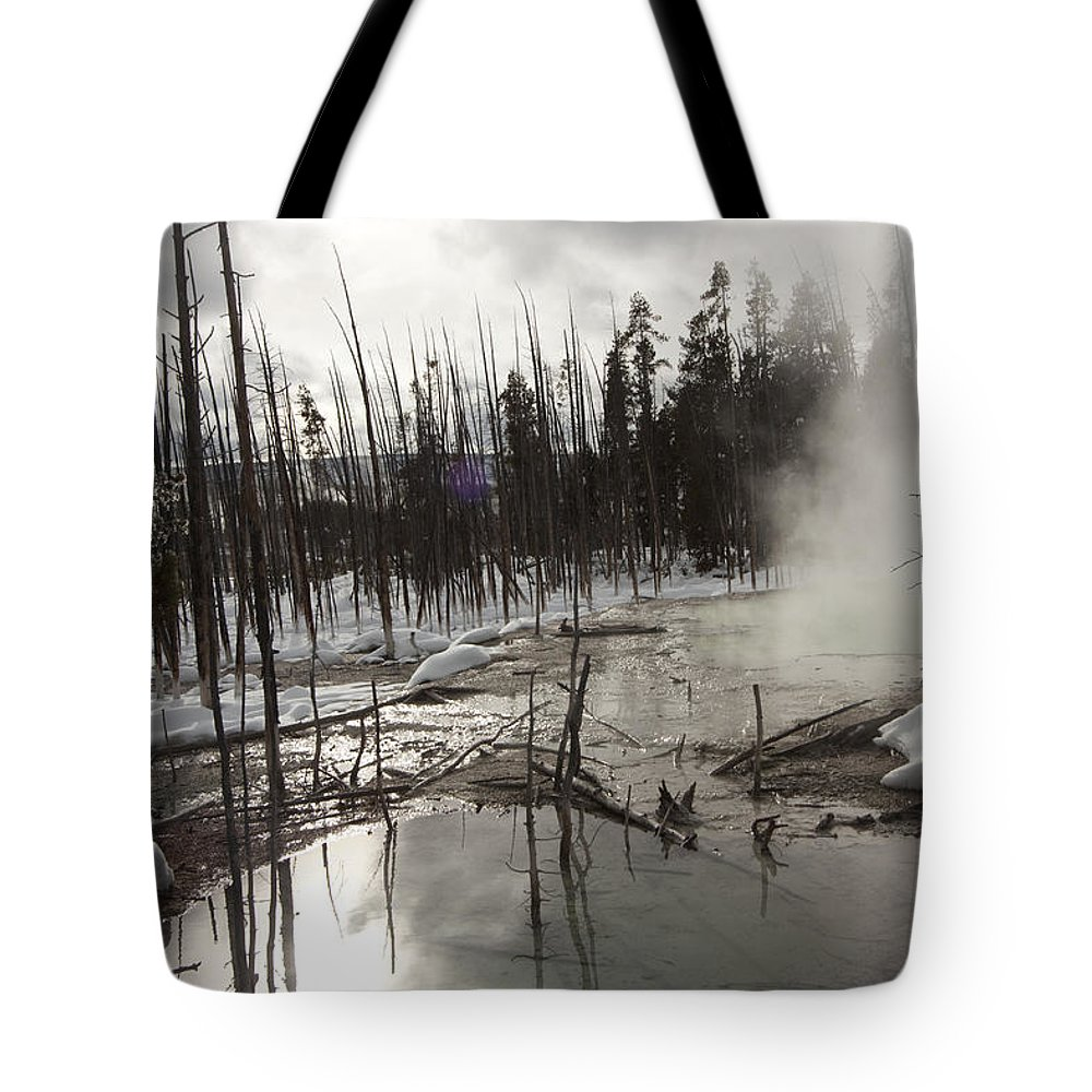 Geisers Tote Bag featuring the photograph Ominous by Mary Haber