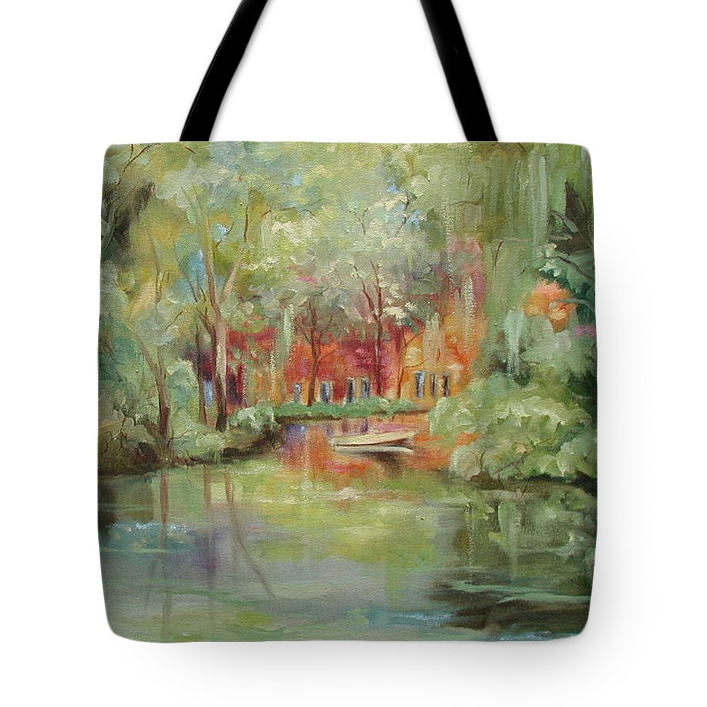 Bayou Tote Bag featuring the painting On A Bayou by Ginger Concepcion