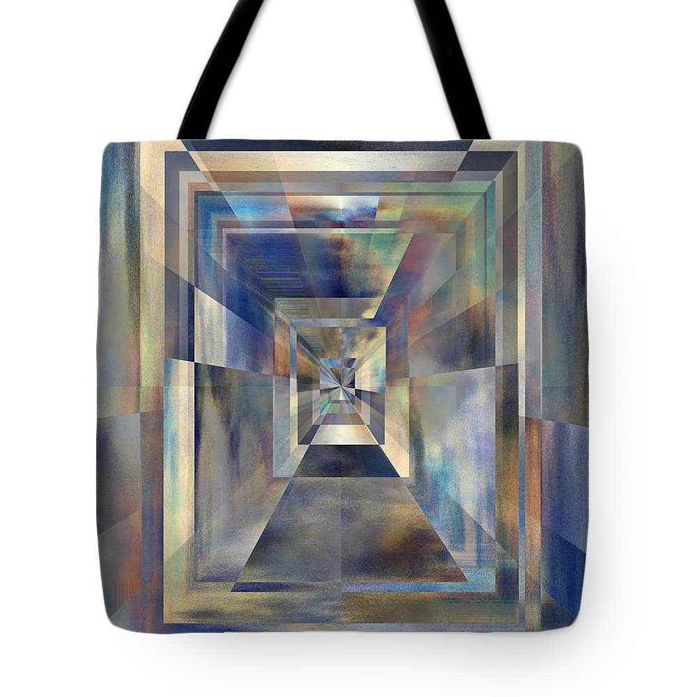 Abstract Tote Bag featuring the digital art On Beyond by Tim Allen