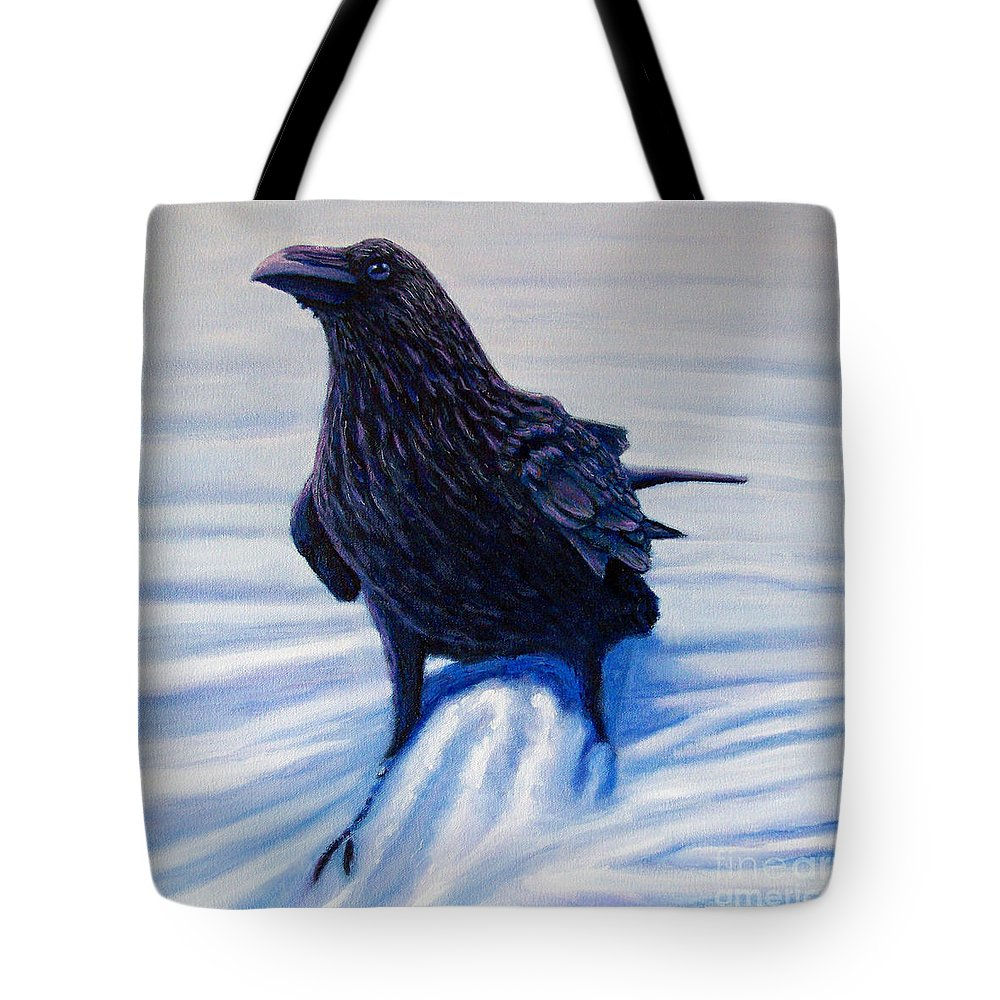 Raven Tote Bag featuring the painting On Canyon Road by Brian Commerford