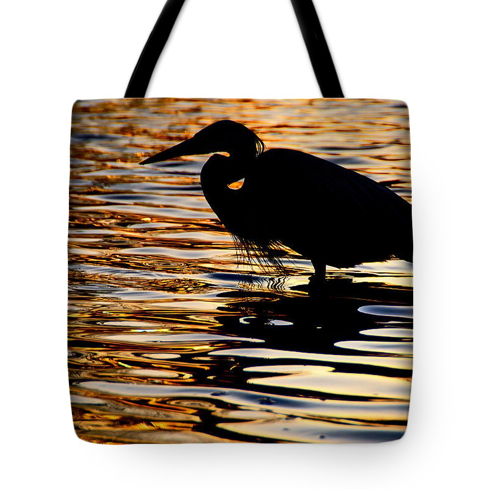 Birds Tote Bag featuring the photograph On Golden Pond by Neil Shapiro