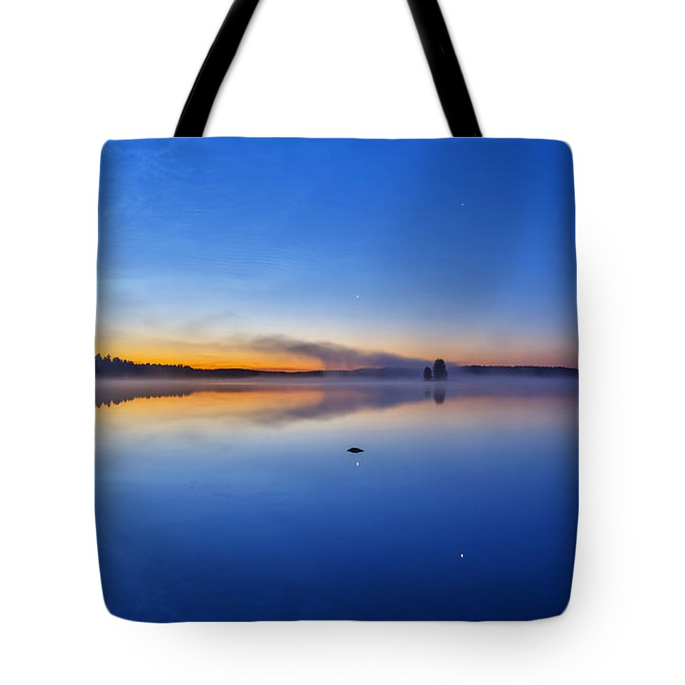 Art Tote Bag featuring the photograph On July Morning At 03.10 by Veikko Suikkanen