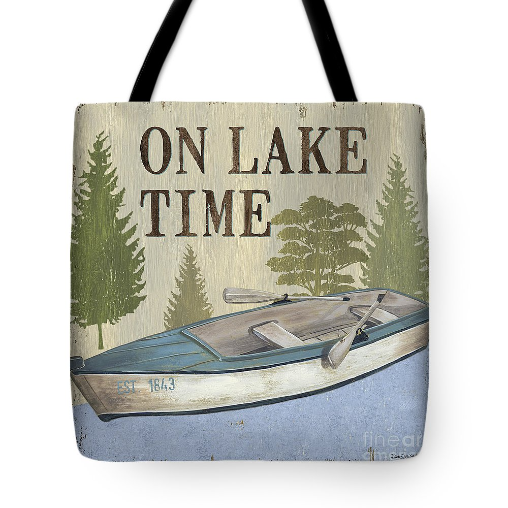 Lake Tote Bag featuring the painting On Lake Time by Debbie DeWitt