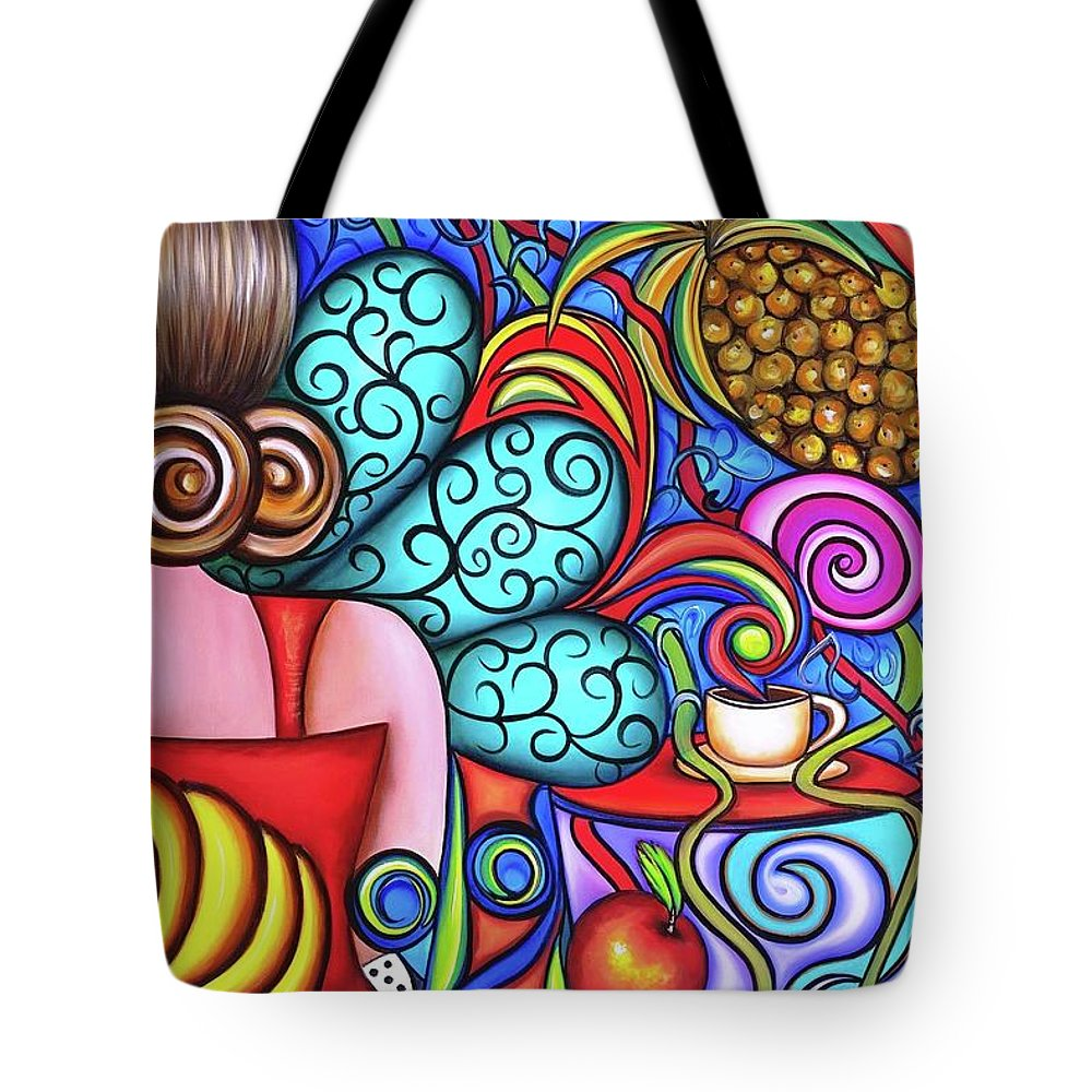 Cuba Tote Bag featuring the painting On My Mind by Annie Maxwell