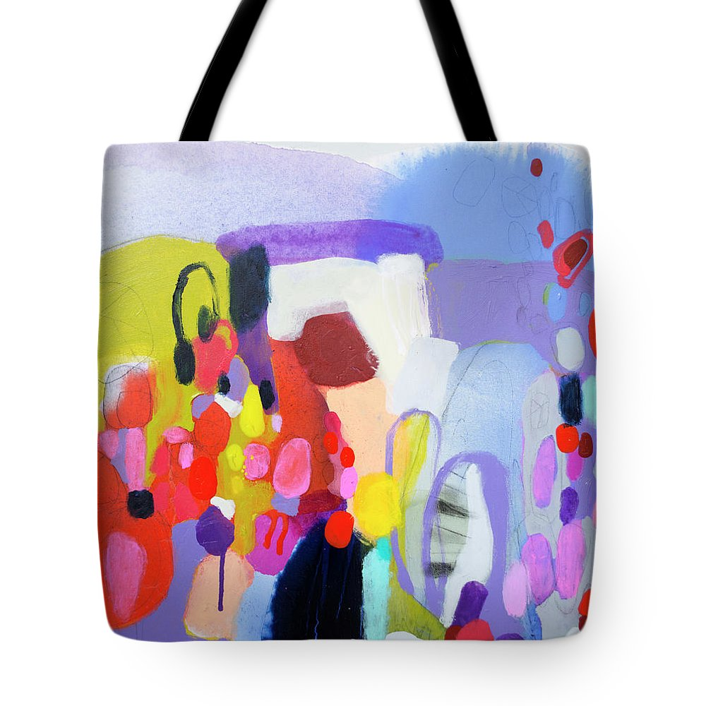 Abstract Tote Bag featuring the painting On My Mind by Claire Desjardins