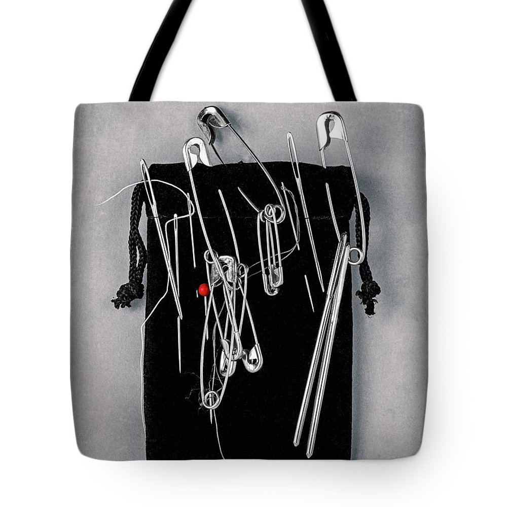 B&w Tote Bag featuring the photograph On Pins And Needles by Tom Mc Nemar