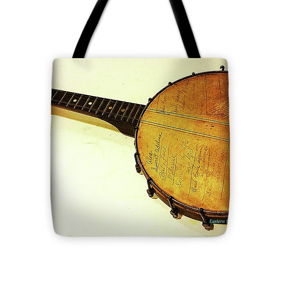 Raritan River Tote Bag featuring the digital art On The Banks Of The Old Raritan by Kathleen Braza