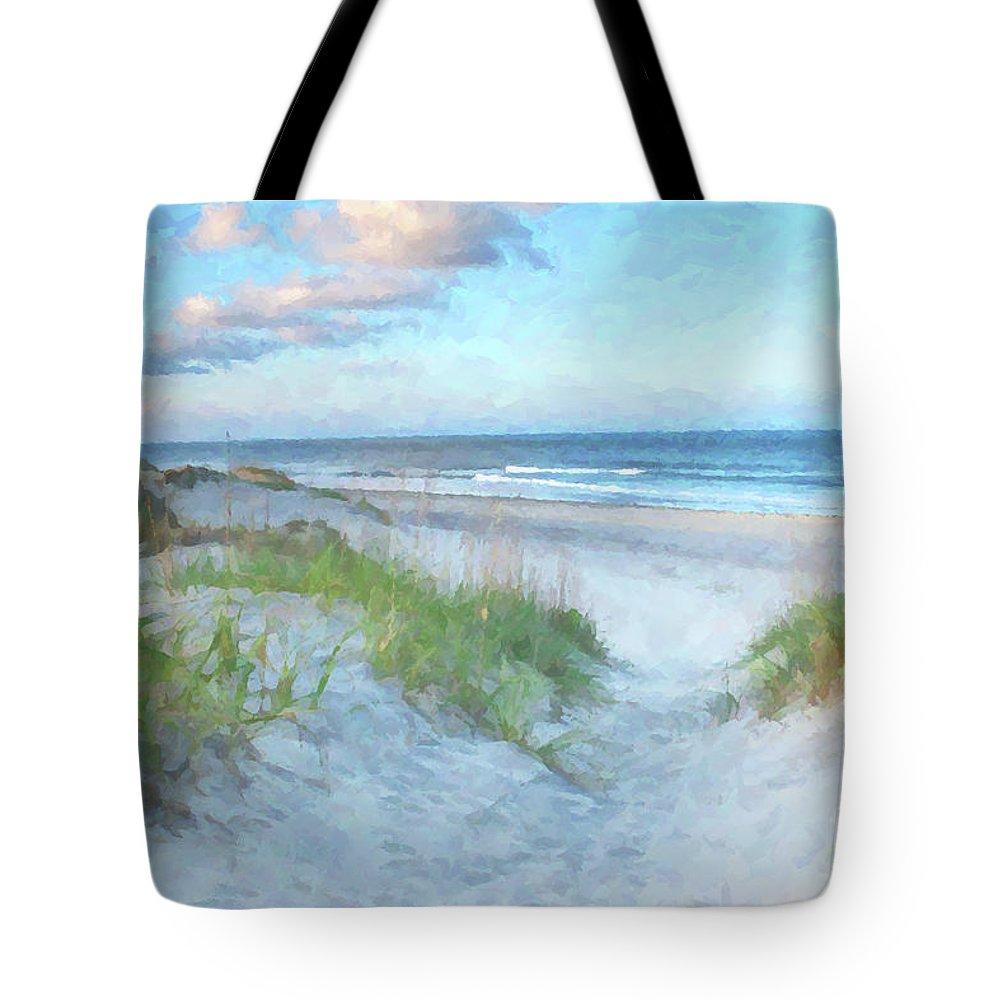 North Sea Digital Art Tote Bags